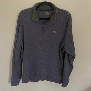 Vineyard Vines Men's 3/4 Zip Sweatshirt, Large